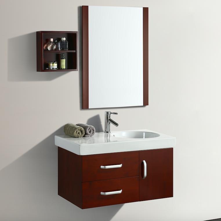 Mobile arredo bagno elisir 82 cm legno sospeso classico - Mobile bagno prezzo ...