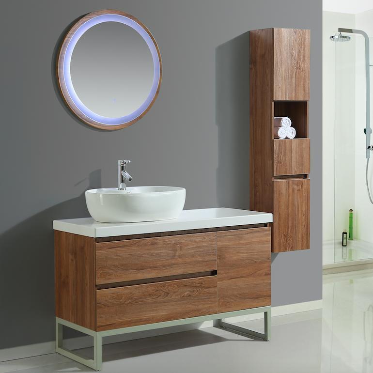 Mobile arredo bagno paris 120 cm moderno colonna arredo for Mobili da bagno