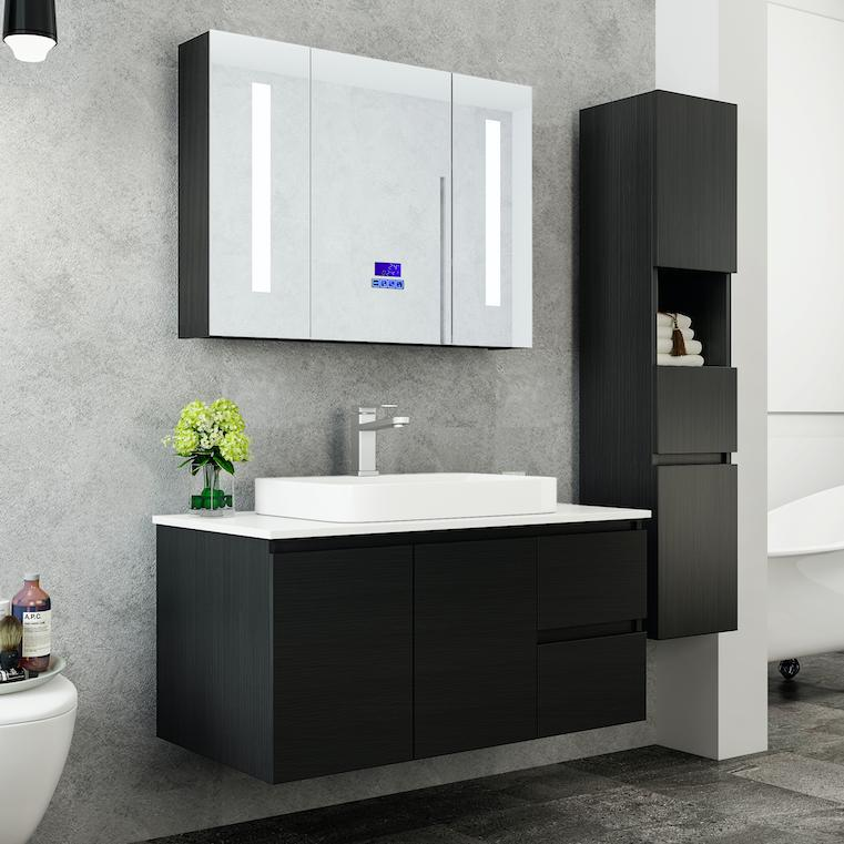 Mobile arredo bagno tokyo 100 cm moderno colonna arredo for Arredo bagno colonna