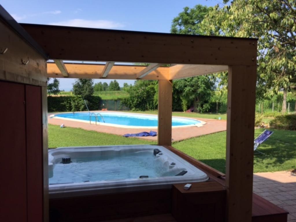 Minipiscina vasca idromassaggio spa zen eco da esterno for Vasche per laghetti da giardino prezzi