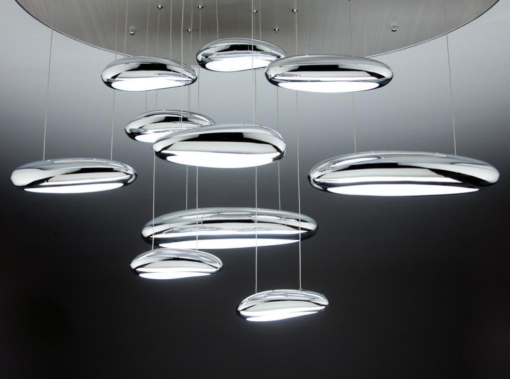 Lampadario a led drop design b luce fredda da soggiorno moderno