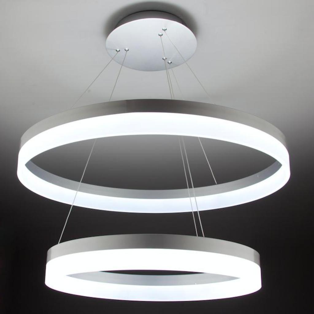 lampadario a sospensione led circle 2t luce fredda di