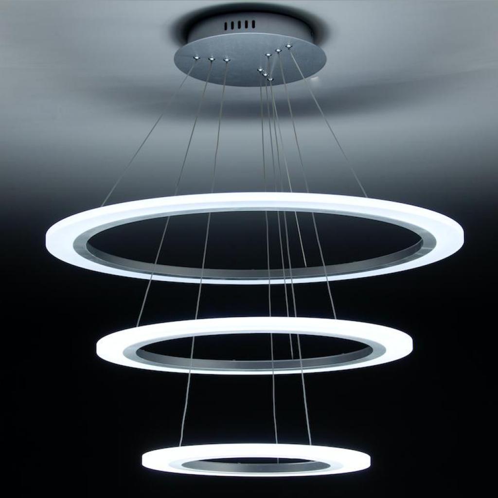 Lampadario A Sospensione Design.Lampadario A Sospensione Led Round 3t Per Salotto Di Design