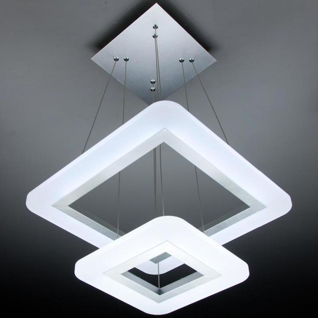 Negozi Lampadari Caserta E Provincia lampadario a sospensione led square 2t design salotto