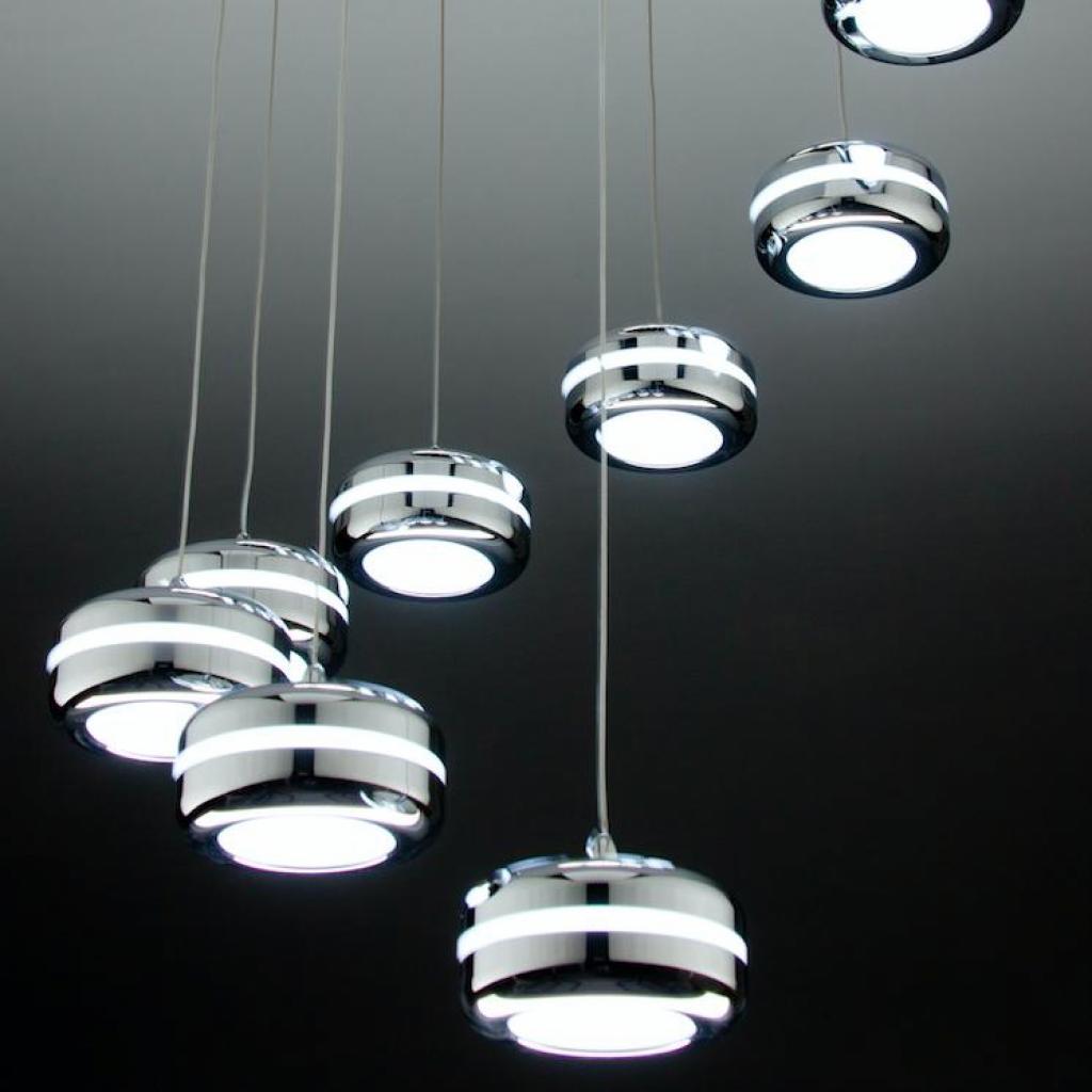 Negozi Lampadari Caserta E Provincia lampadario a sospensione led plate 9 di design moderno cod