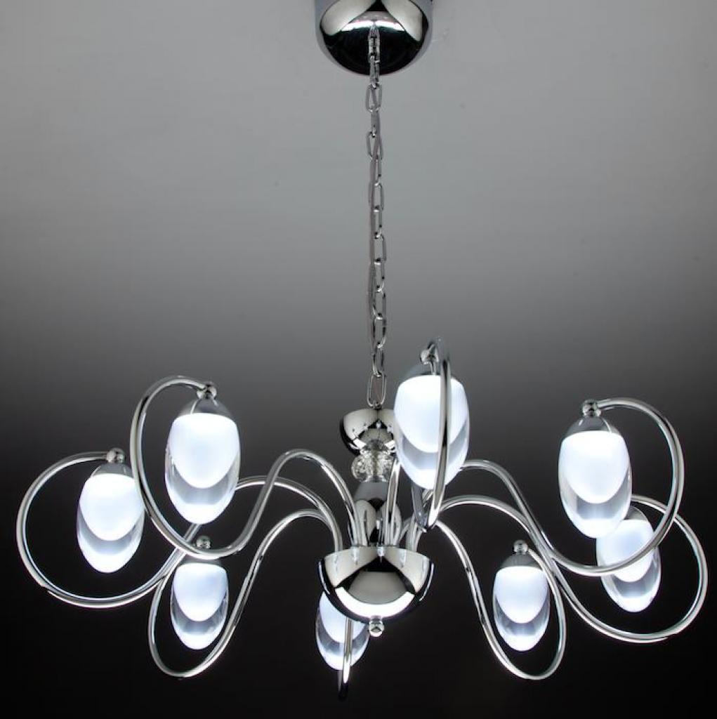 Negozi Lampadari Caserta E Provincia lampadario a sospensione led candeliere 8 di design moderno