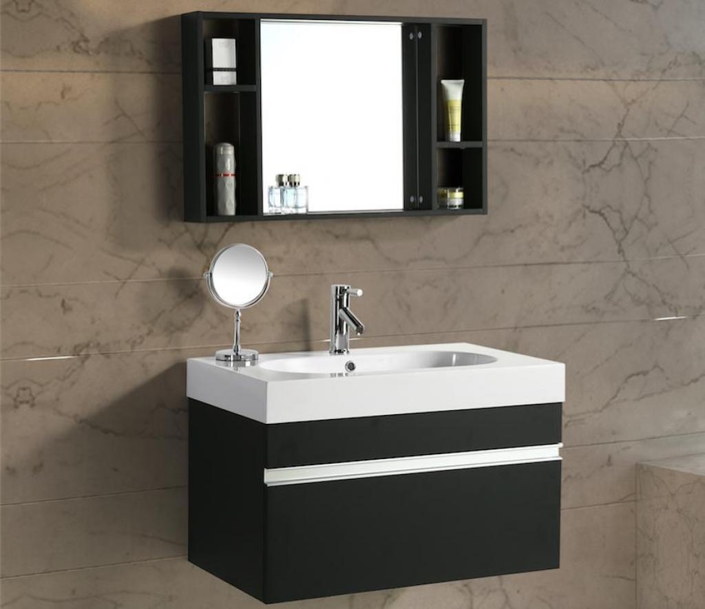 Mobili Da Bagno Idea.Mobile Arredo Bagno Idea 90 Cm Sospeso Moderno Nero Cod 00000489