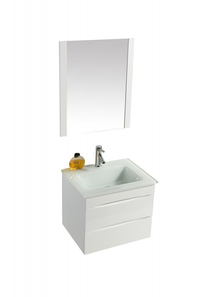 Mobile Arredo Bagno Easy 60 cm Bianco Moderno Sospeso cod. 00000494