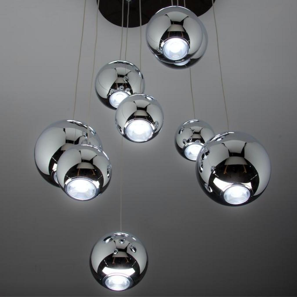 Negozi Di Lampadari A Salerno lampadario a sospensione led sfere design moderno cod. 00000589