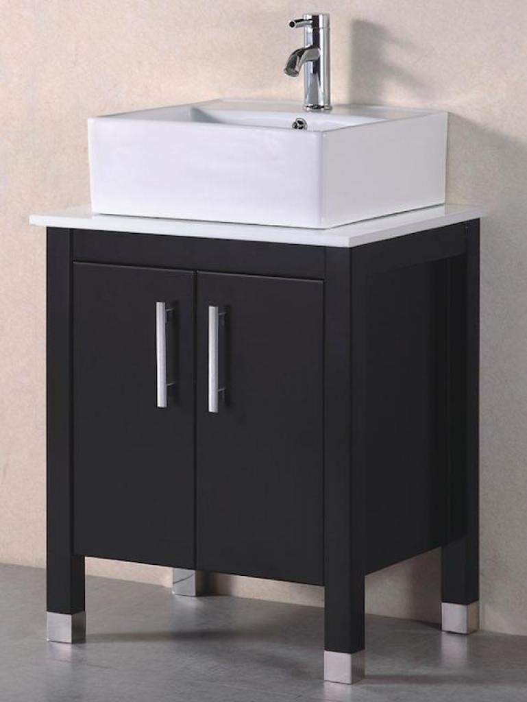 Mobile bagno old england 61 cm legno massello nero - Sanitari bagno old england ...