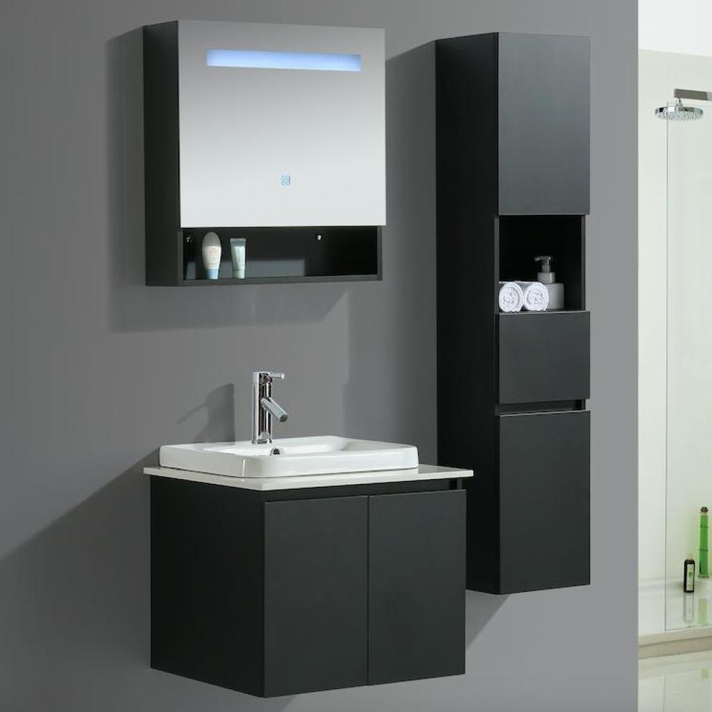 Mobile arredo bagno tokyo 80 cm moderno colonna arredo for Colonna mobile bagno