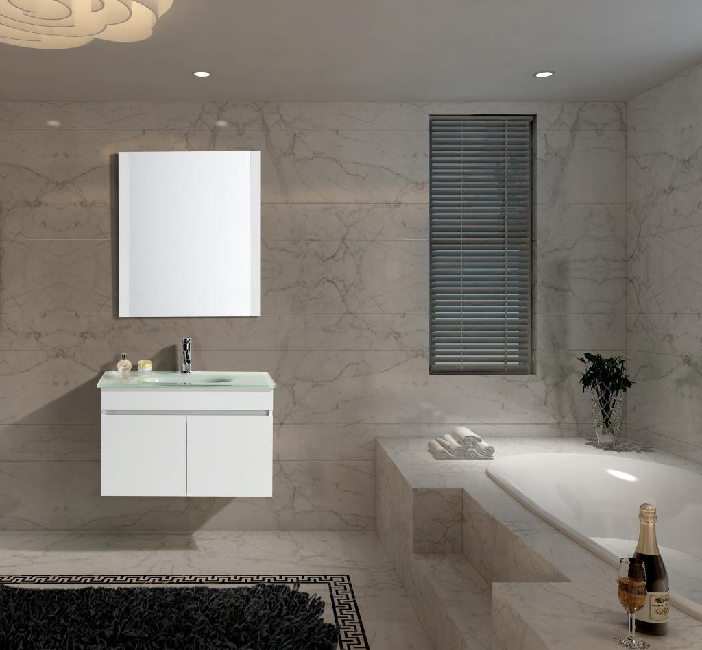 Mobile Arredo Bagno Easy White 80 cm Sospeso Bianco Moderno ...