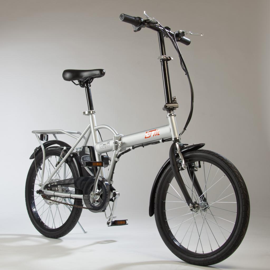 Bicicletta Elettrica Ifm Grigia Pieghevole Batteria Litio Da 36v6ah