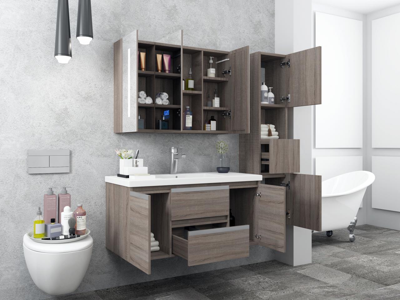 Mobile arredo bagno venice 90 cm spazioso colonna arredo for Arredo bagno mestre