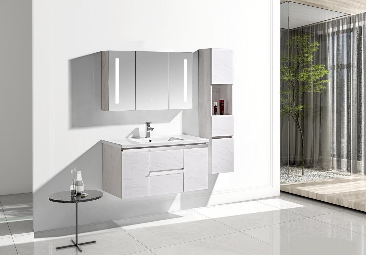 Set mobile arredo bagno venice stone bianco 100cm for Arredo bagno mestre