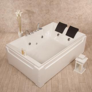 Vasca Da Bagno Doppia.Vasca Idromassaggio Paradise Luxury 185x123 Doppia Di Design Cod 00000182