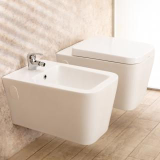 Produttori Sanitari Da Bagno.Sanitari Bagno Sospesi Minimal Wc Con Seduta Bidet Di Design