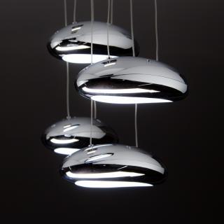 Lampadario A Led Drop Design 4b Luce Fredda Soggiorno Moderno Cod 00000588