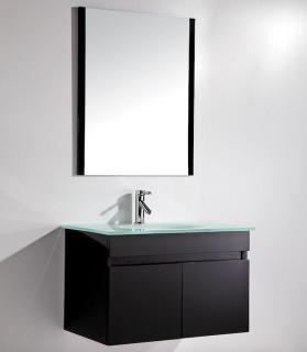 Mobile arredo bagno easy black 80 cm sospeso nero moderno for Arredo bagno black friday