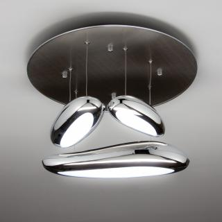 00001140 Lampadario a Sospensione Led Drop Design 3B Luce Calda Moderno