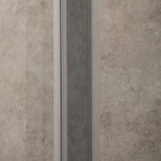 Doccia Itria 70x100cm Reversibile Vetri Fume 6mm Telaio in Alluminio