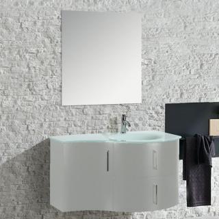Arredo Bagno Moderno Bianco.Mobile Arredo Bagno Kursal 104 Cm Sospeso Bianco Destro Moderno Cod 00003015