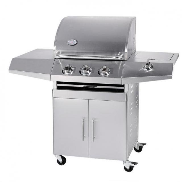 Barbecue a Gas GPL e Metano Total Inox a  3 fuochi