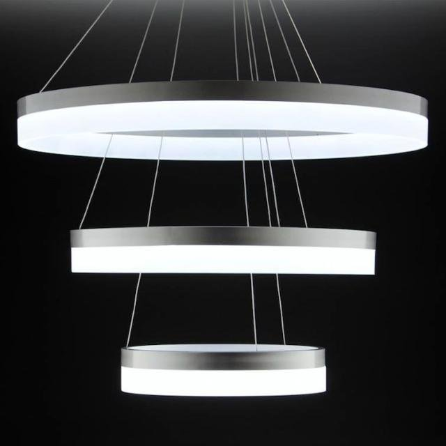 Lampadario a Sospensione Led Circle 3T  Moderno di Design