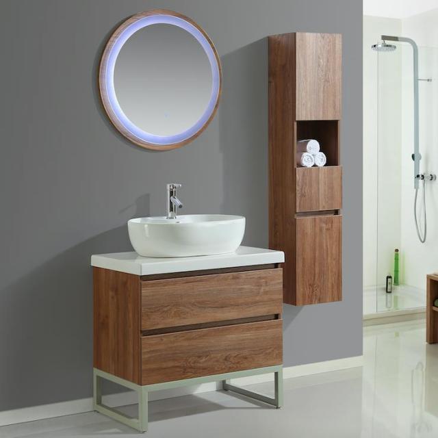 Colonna arredo bagno 25x22x160 cm sospesa moderna bianca for Arredo bagno colonna