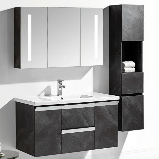 Mobile arredo bagno kristal 60 cm sospeso moderno grigio for Arredo bagno mestre